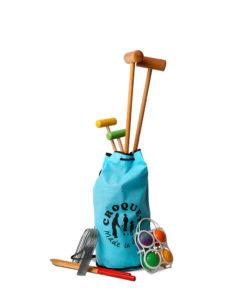 Croquet en sac bleu mixte
