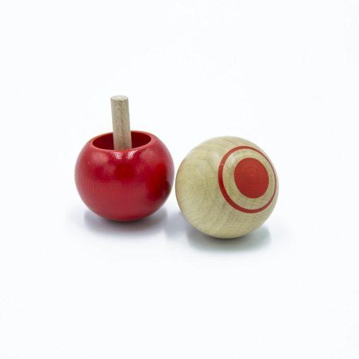 toupie pirouette bois rouge foulon