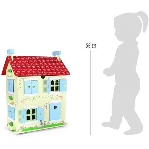 Maison de poupées avec toit amovible Legler WB-10736-LR