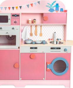 cuisine en bois rose