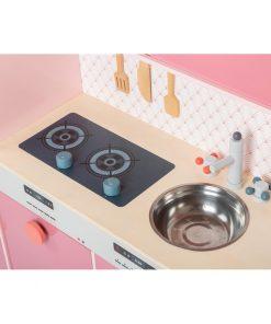plaque de cuisson et évier de cuisine en bois pour enfant