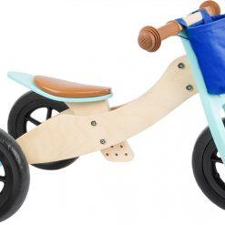 tricycle-draisienne-bois-bleu