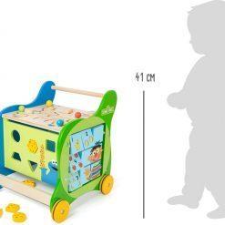 chariot de marche enfant en bois legler small foot