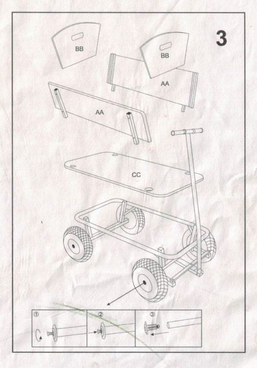 notice montage chariot bois maxi