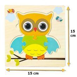 puzzle en bois chouette pour enfant