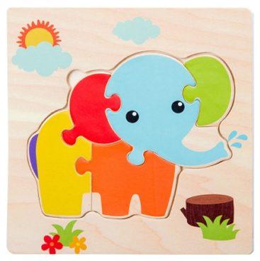 puzzle en bois elephant enfant