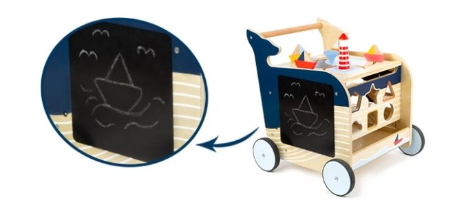 tableau chariot de marche baleine small foot
