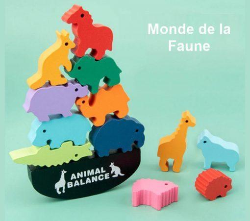 animaux empilables monde de la faune