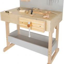 etabli et outils gris pour enfants Legler