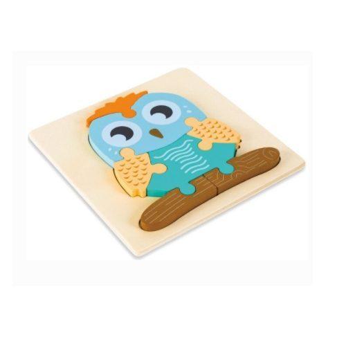 puzzle 3d chouette- bois