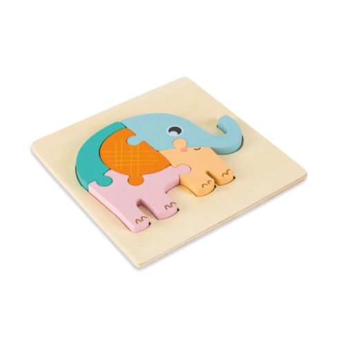 puzzle 3d elephant bois