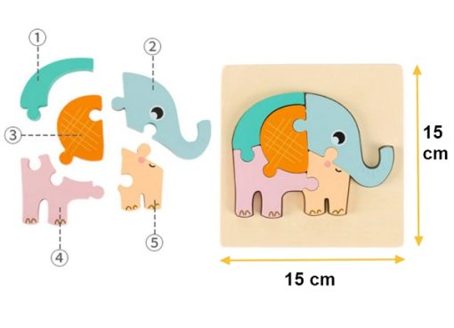 puzzle 3d jouet bois bebe