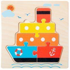 puzzle en bois bateau enfant