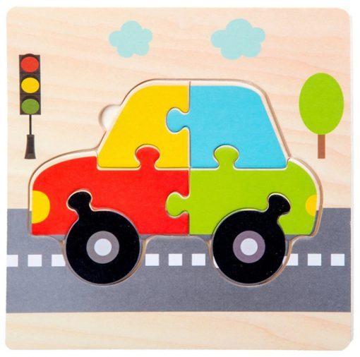 puzzle en bois voiture pour enfant
