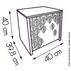 dimensions coffre de rangement bois malice