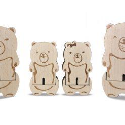 figurines en bois la maison des ursidae