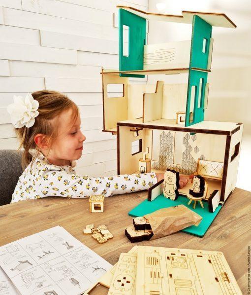 la maison des ursidae jouet en bois